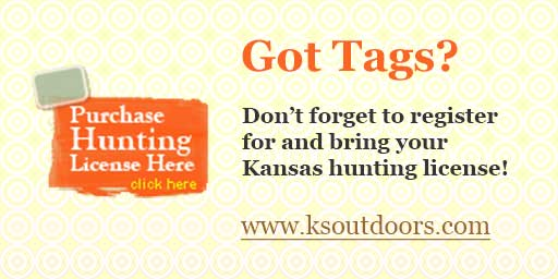 Purchase Kansas hunting license.