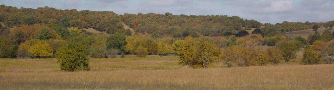 Hills and open hunting land in Kansas